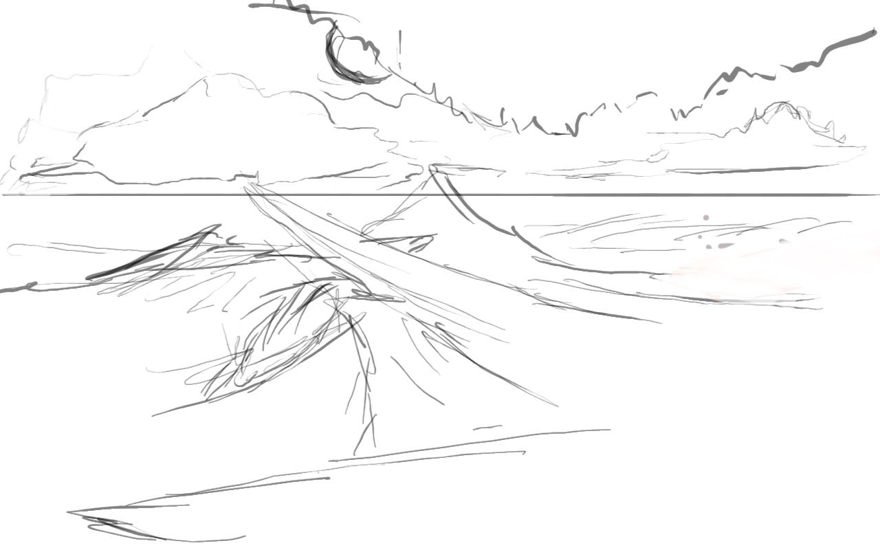 Рисование пустыни