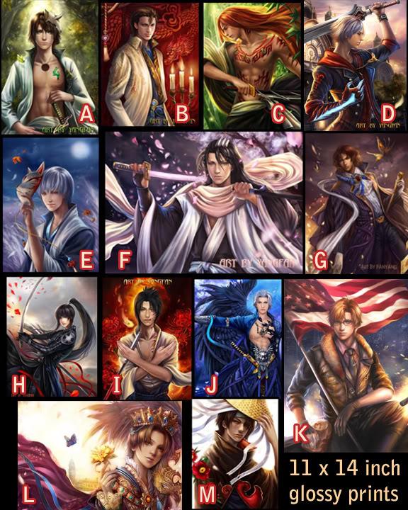 Мужские Аниме персонажи от Heise (все картинки)