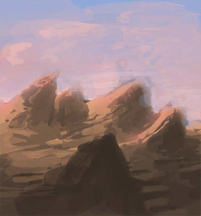 Два новых скетча цвета | Цветные наброски пейзажей