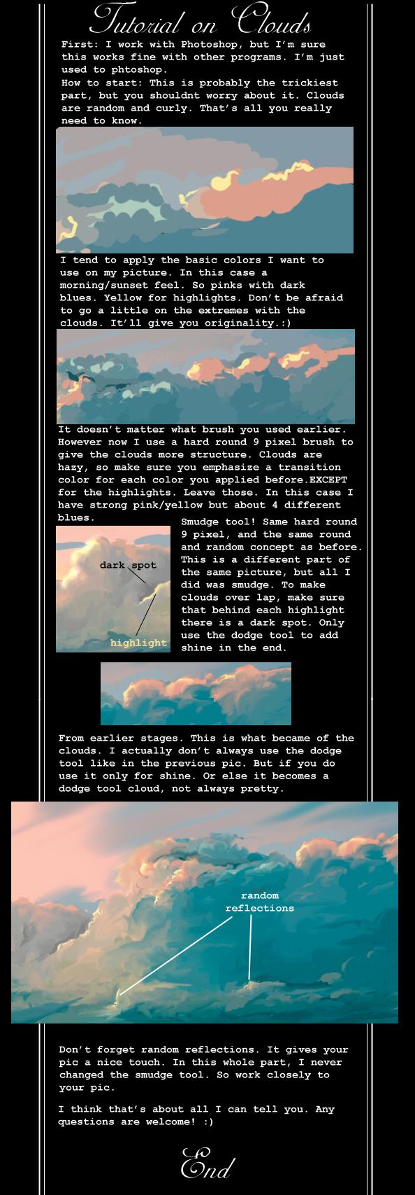 Рисование облаков
