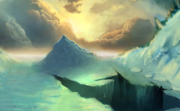 Отражение льда