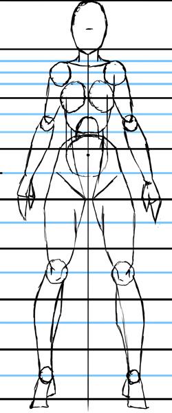 Тренировка рисования фигур людей и лиц