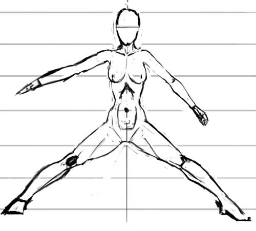 Рисование мышц человеческого тела