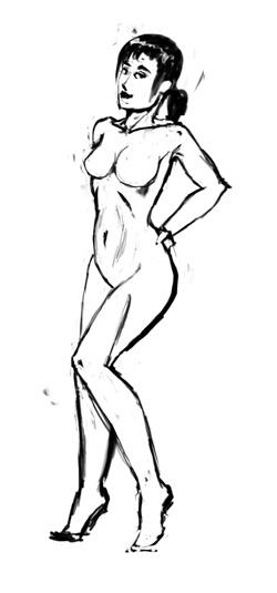 Рисование женских фигур в фотошопе по схеме
