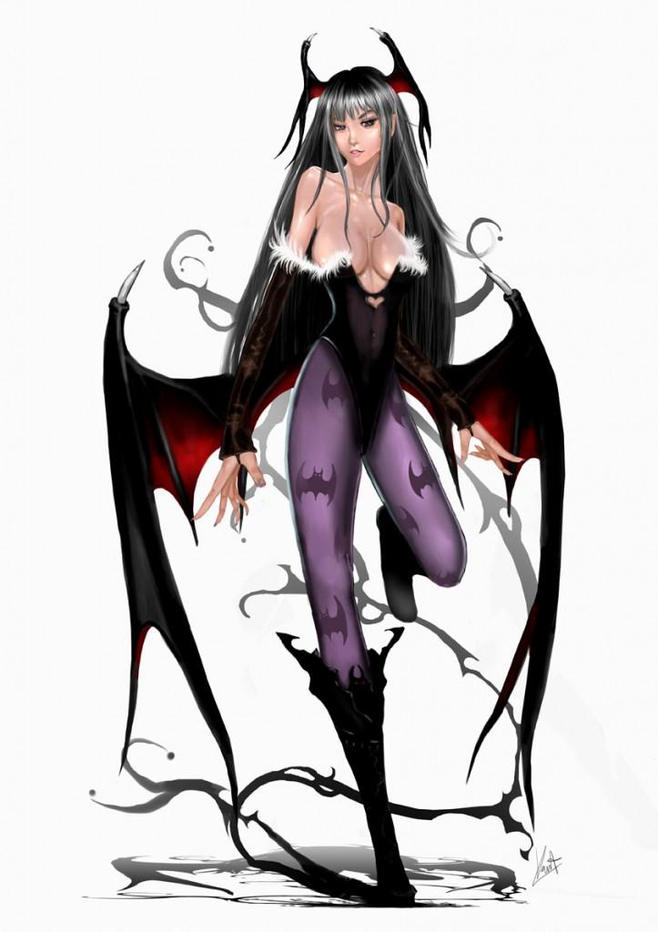 Морриган - девушка летучая мышь