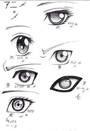 Как рисовать аниме глаза