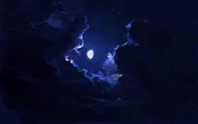 Как рисовать ночное небо