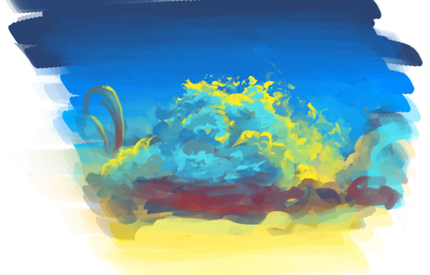 Как быстро рисовать красивые облака в фотошопе