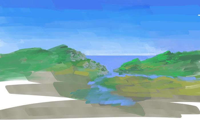 Как рисовать берег