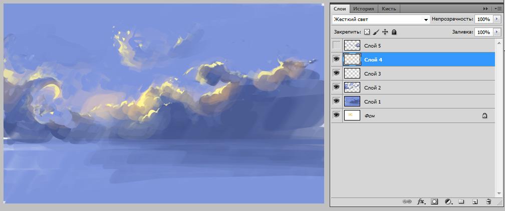 Как рисовать облака