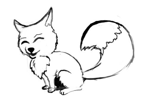 Как нарисовать лису поэтапно