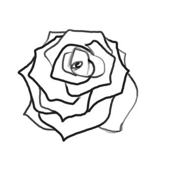 Как нарисовать розу поэтапно