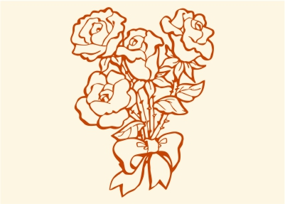 Как нарисовать узоры для розы