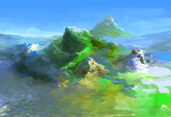 Дракон под горой | Пейзаж в фотошопе