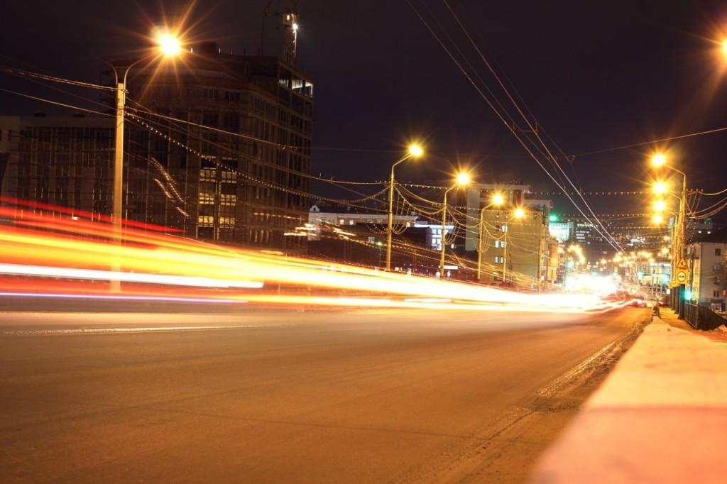 Большая выдержка. Ночная улица
