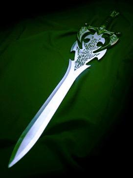 Огненный меч в фотошоп