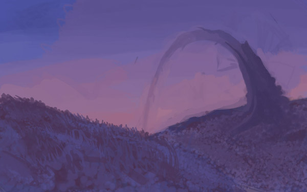 Рисование пейзажа. Новая проба