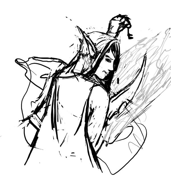 Рисование эльфа