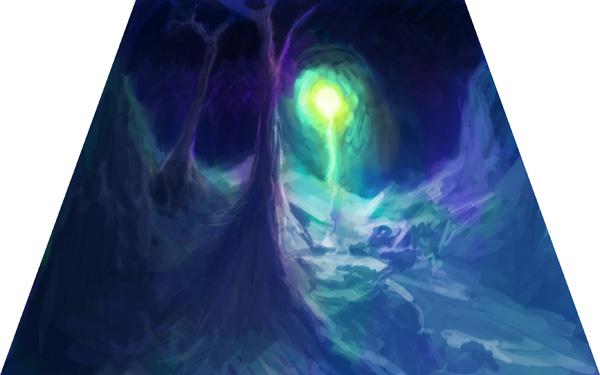 Рисование ночного пейзажа