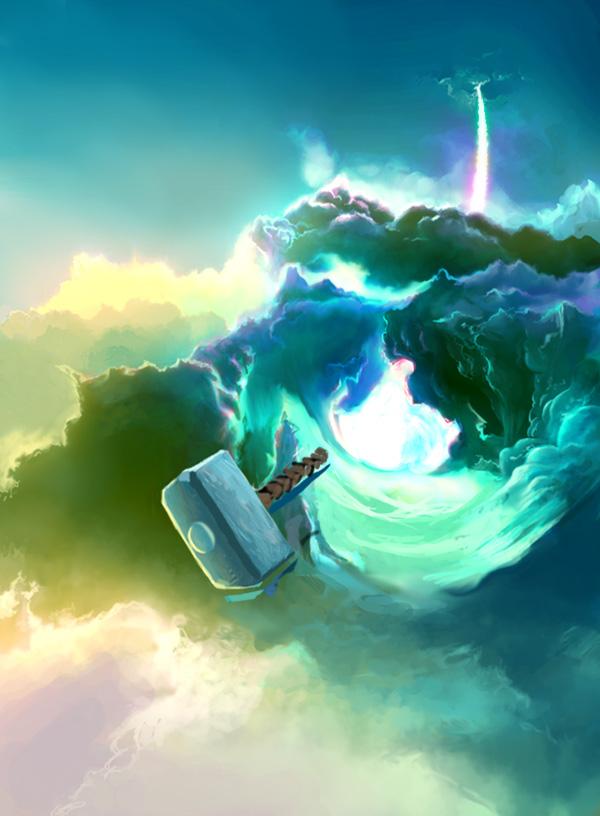Thor's Hammer | Как рисовать облака