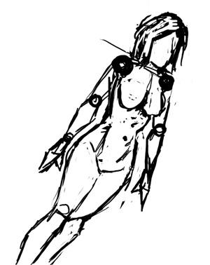 Рисование человеческих фигур в повороте