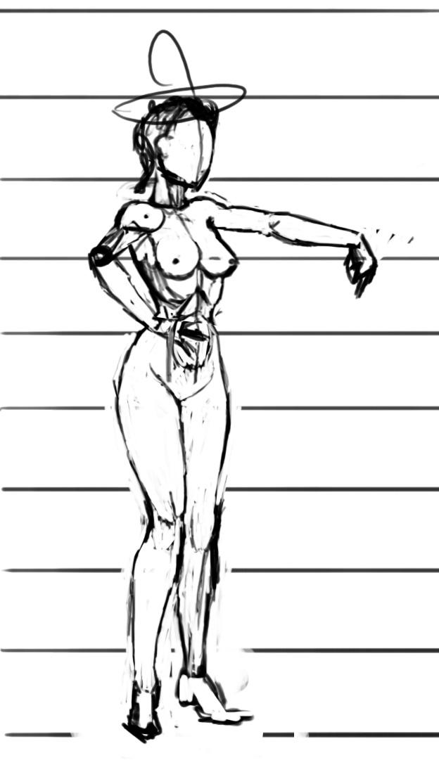 Пропорции рисования девушек