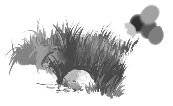 Рисование травы
