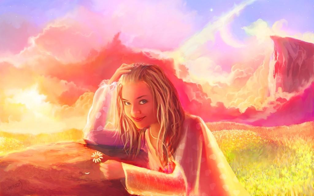 Живописный портрет девушки