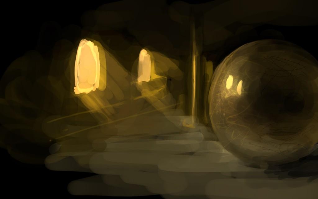 Рисование сферичных металлических поверхностей