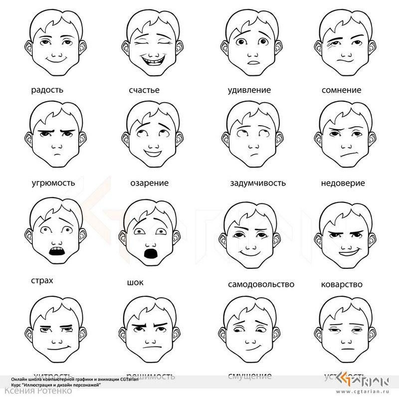 Эмоциональные состояния человека картинки