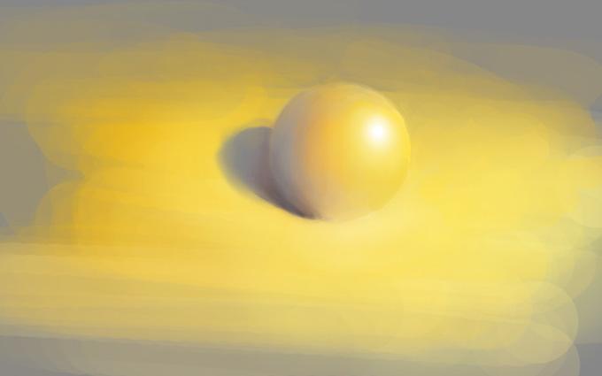 Рисование шаров при разном освещении