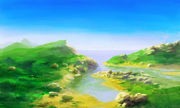 Как рисовать берег моря