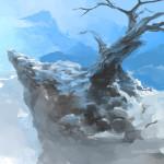 Скала с деревом