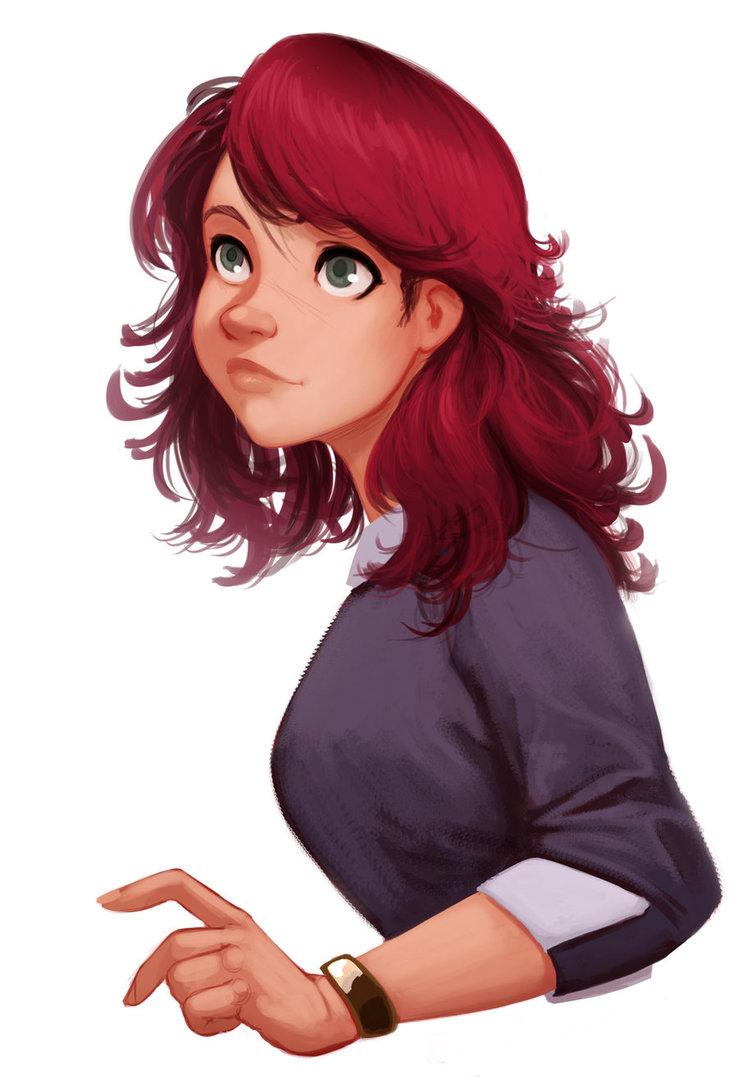 Рисованные девушки в комикс стиле
