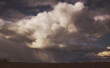 Пейзажная фотография с кучевыми облаками